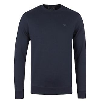 Emporio Armani Navy Fleecy Sweatshirt