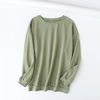 Tangada Autumn Women Terry Cotton Suit Oversized Sets Neck Hoodies Sweatshirt