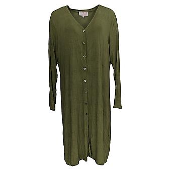 Laurie Felt Women's Sweater Fuse Modal Maxi Cardigan Green A375438