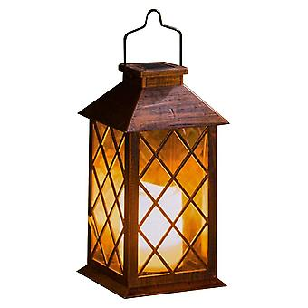 Waterproof Solar Powered Candle Lantern Light Garden Hanging Lantern Flickering