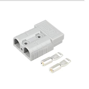 Set of 2 50 A Battery Quick Connector Connector Kit  Cables Connectors Gray