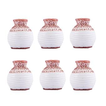 Resin Miniature Small Mouth Vase DIY Craft Accessory Home Garden Decoration Accessories