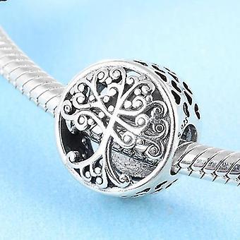 925 Sterling Silver Big Tree Charm Bracelet