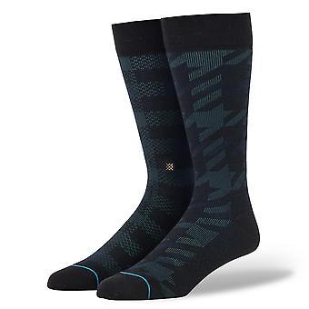 Stance Staples Men's Socks ~ Plaid Out black