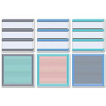 """Placas de luz y letras tranquilas y frescas 6"""" recortes de diseñador, 36/Pack"""