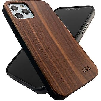 Wood Phone Case Walnut Cover Compatible with iPhone 12 and iPhone 12 Pro