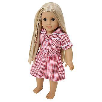 Κούκλες σχολείο καλοκαίρι ομοιόμορφο φόρεμα από frilly κρίνος, επιλογή των χρωμάτων [ φόρεμα μόνο ] για να χωρέσει κούκλες 14-1