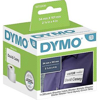 DYMO تسمية لفة 99014 S0722430 101 × 54 ملم ورقة بيضاء 220 pc (s) تسميات الشحن الدائم