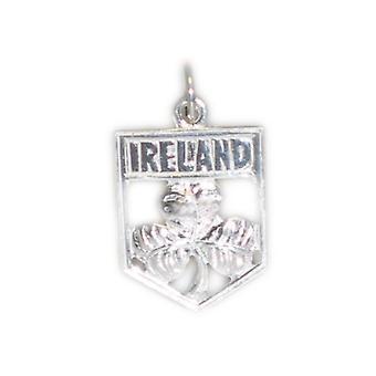 Ireland Crest Sterling Silver Charm .925 X 1 Irish Charms - 140