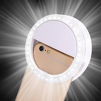 Portable Mobile Phone Leds Selfie Lamp Luminous Ring Clip