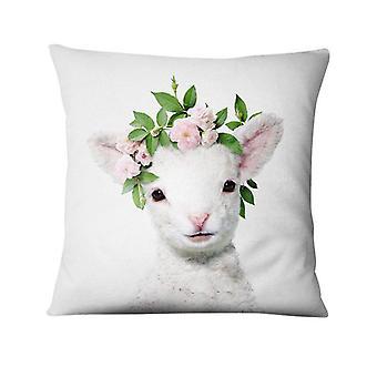 Home Decoration Pillow Fresh Animals Flower Thin Linen Cushion Decorative