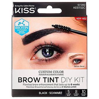 Kiss Custom Color Brow Tint DIY Kit - Black - Personalise Your Brow Shade
