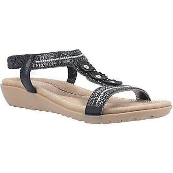 Fleet & Foster tabitha womens ladies flat sandals black UK Size