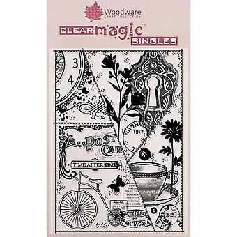 Woodware Clear Singles Vintage Patchwork 4 en x 6 en timbre