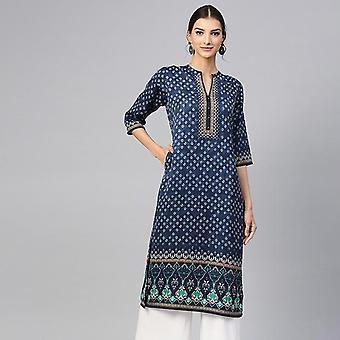 Ethnische Blusen Indien Kleid Kleidung Kurtha lange Kurti pakistanische Bluse Baumwolle