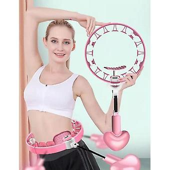 スマートなカウント可能なフラフープ、固定ウエストが落ちない、取り外し可能なフラフープ、フィットネスと薄い腹部