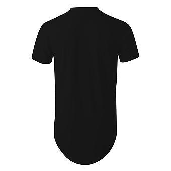 Allthemen Gradient Ethnic Style Raidallinen 3D-tulostettu hem arc lyhythihainen T-paita