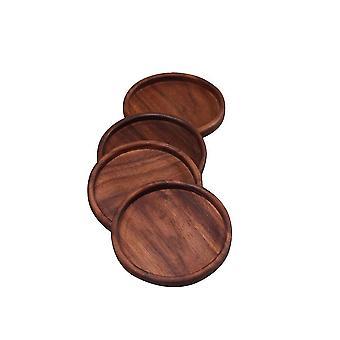 4 PCS Black Walnut Coaster