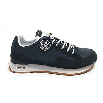 North Sails Sneaker Running Rw/04 First Suede/ Navy Blue Fabric Us21ns03