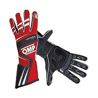 Men's Driving Gloves OMP Tecnica EVO Rouge
