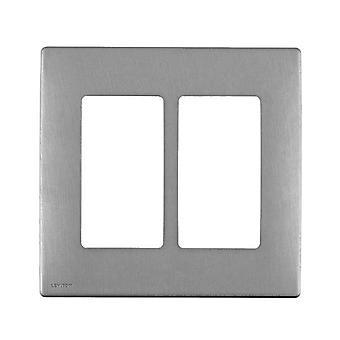 Leviton 2 Gang Renu Snap On Wallplate Stainless Steel