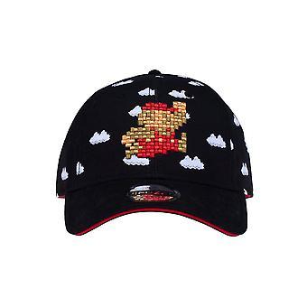 Super Mario 8-bittinen pilvi musta kaareva bill cap