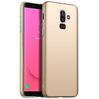 Ultra thin case for samsung j8 2018 anti fall shockproof cover gold kc219