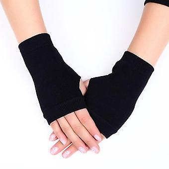 Wool Knitted Fingerless Flip Gloves