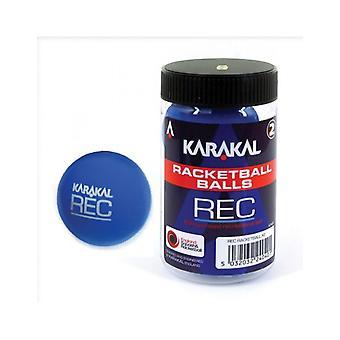Karakal Recreation Ball Blue Squash Court Rubber Racketball Tub - Pack of 2