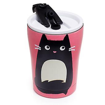 Puckator Feline Fine Cat Stainless Steel Drinks Cup