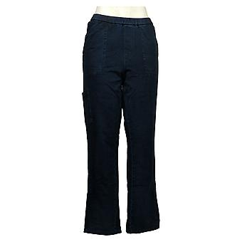 Denim & Co. Women's Jeans Denim Slim Leg Side-Pocket Blue A368021