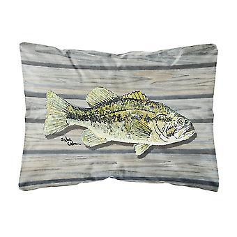 Caroline Schätze 8493Pw1216 Fisch Bass kleine Mund Leinwand Stoff dekorative Kissen, groß, mehrfarbig
