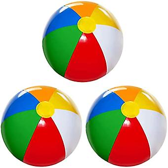 Beach Ball 3 Pack Inflatable Beach Balls For Kidstoddlers Pool Games