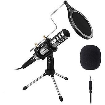 FengChun Microfono per PC a Condensatore per Telefono Cellulare Registrazione del Microfono 3,5 mm