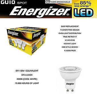 4 Pack ENERGIZER LED S9451 GU10 370LM spaarlampen