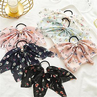 6Pcs mousseline boucle arc cheveux accessoires anneau de cheveux adapté pour les femmes ou les enfants