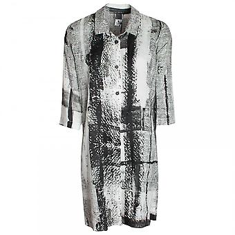 Crea Concept Long Printed Blouse With Open Sides