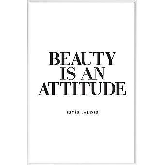 JUNIQE Print - Skönhet är - Citat & Slogans Affisch i Svart & Vitt