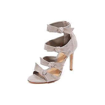Schutz Women's Shoes Miranda Suede Peep Toe Casual Ankle Strap Sandals