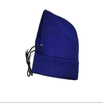 Modrá zimná teplá jazda pletené vlnené klobúk x4465