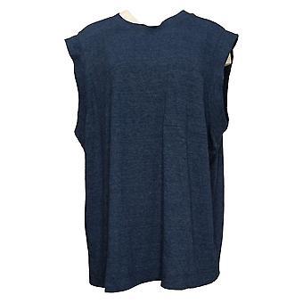 WVVY by Fitty Britttty Women's Top Reg Oversized Cap-Sleeve Blue 739136