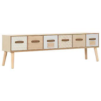 TV-Möbel mit 6 Schubladen 130X30X40 Cm Massivkiefer