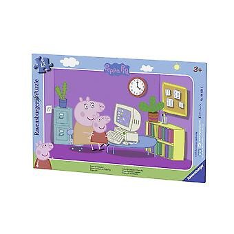 Peppa Pig in Front of The Computer Puzzle - 15 Pieces