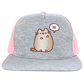 Pusheen Baseball Cap Hi Bye Logo new Official Grey Snapback