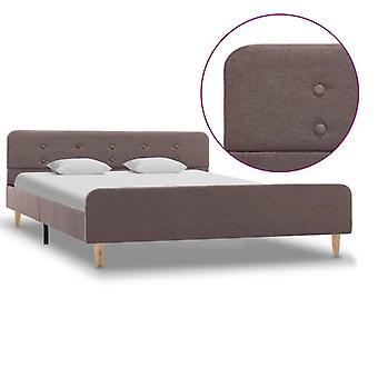 vidaXL bed frame Taupe fabric 140x200 cm
