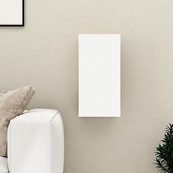 vidaXL armoire tv blanc et sonoma-chêne 30,5x30x60 cm panneau de particules