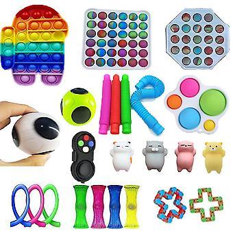 24st Android Push Pop Bubble Rolig Fidget Toy Stress Reliever för autism