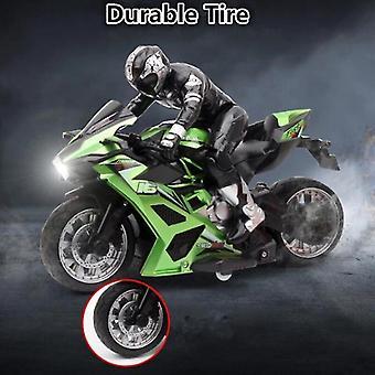 Kaukosäädin Stunt Moottoripyörä 360 astetta Kierto drift Car Racing Moottoripyörä Lelu malli (Vihreä)