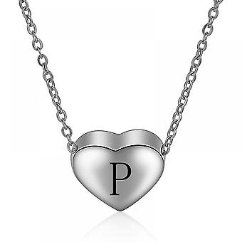 925 Sterling Silver Initial  Letter P Necklace - 18 Inch