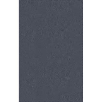 NBLA Biblia de Estudio MacArthur Piel Genuina Azul Pizarra Interior a dos colores by General editor John F MacArthur & Vida